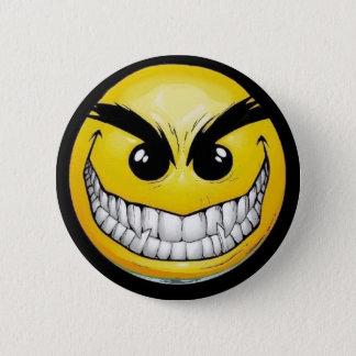 Evil Smiley 2 Inch Round Button