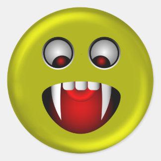 Evil Smiley Classic Round Sticker