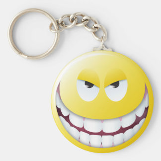 Evil Smiley Face Keychain