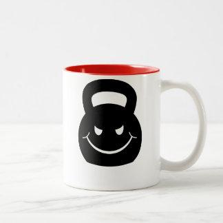 EVIL SMIRKING KETTLEBELL Two-Tone COFFEE MUG