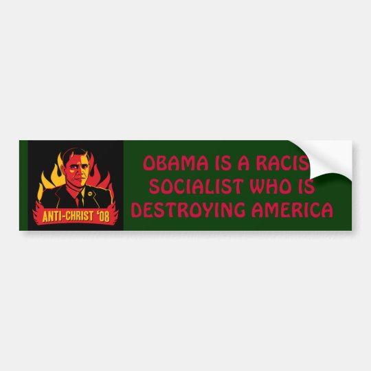 Evil Socialist Obama Bumper Sticker