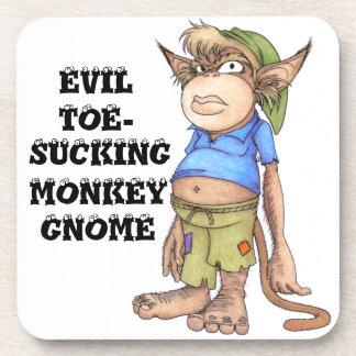 Evil Toe-Sucking Monkey Gnome Coasters