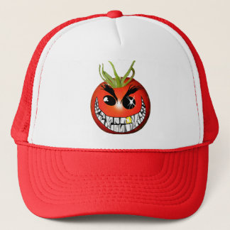 Evil Tomato Smiley Trucker Hat