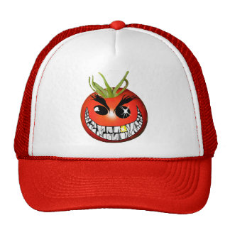 Evil Tomato Smiley Trucker Hat