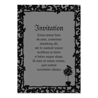 "Evil Topiary Coordinates 5"" X 7"" Invitation Card"