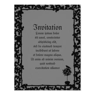 "Evil Topiary Coordinates 4.25"" X 5.5"" Invitation Card"