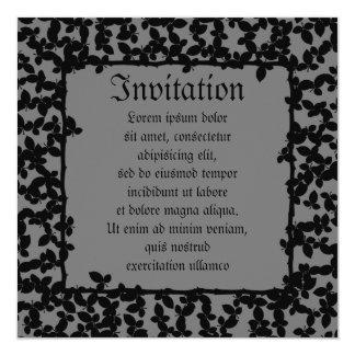 "Evil Topiary Coordinates 5.25"" Square Invitation Card"