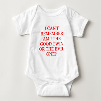 evil twin joke baby bodysuit