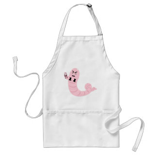 Evil Two Headed Worm for Halloween Standard Apron