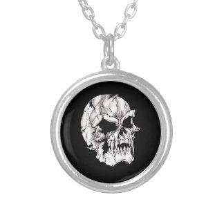 Evil Vampire Skull Round Pendant Necklace