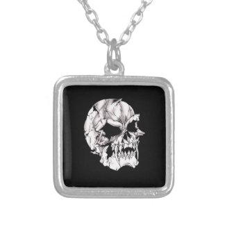 Evil Vampire Skull Square Pendant Necklace