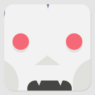 Evil Vampire Square Sticker