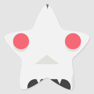 Evil Vampire Star Sticker