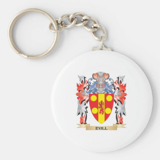 Evill Coat of Arms - Family Crest Basic Round Button Keychain