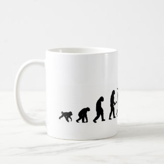 EVO02 evolution cycling cyclist silhouette Coffee Mug