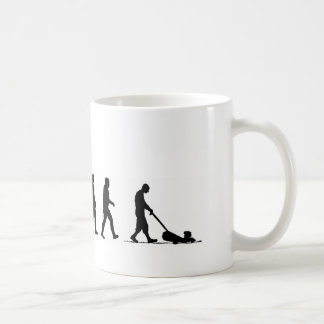 EVO07 evolution of man lawnmower suburbia Coffee Mug