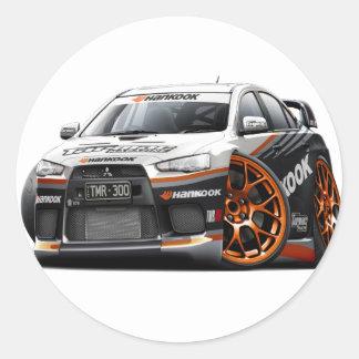Evo Race Car Classic Round Sticker