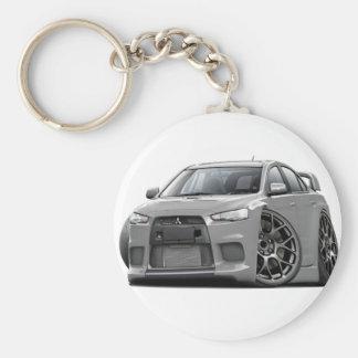 Evo Silver Car Keychain
