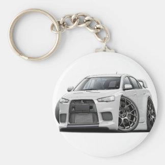 Evo White Car Keychain
