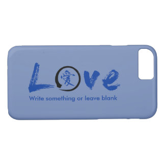 Evoke warmth! Love iPhone 7 cases & blue kanji