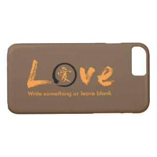 Evoke warmth! Love iPhone 7 cases & orange kanji