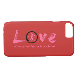 Evoke warmth! Love iPhone 7 cases & pink kanji