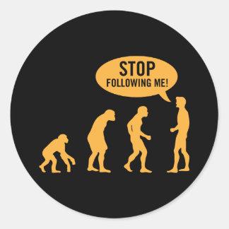 evolution3 sticker rond