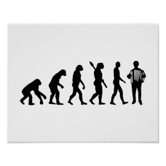 Evolution Accordion player Posters