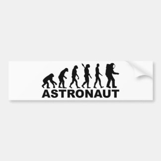Evolution Astronaut Bumper Sticker