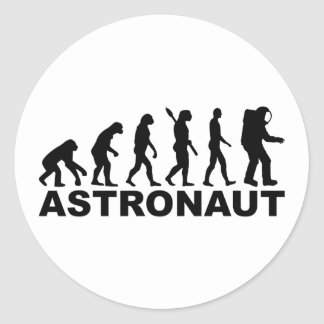 Evolution Astronaut Round Sticker