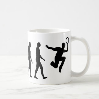 Evolution Badminton Coffee Mug