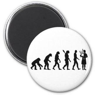 Evolution Bagpipe Refrigerator Magnet