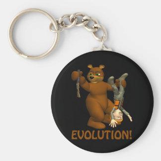 Evolution Basic Round Button Keychain