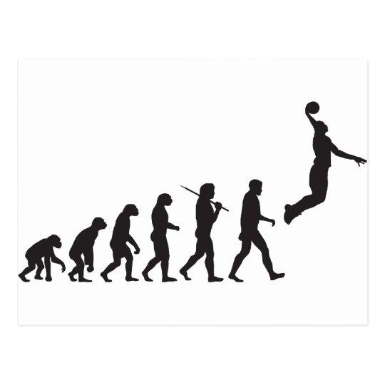 Evolution - Basketball Jump Postcard