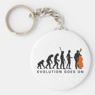 evolution bass basic round button keychain