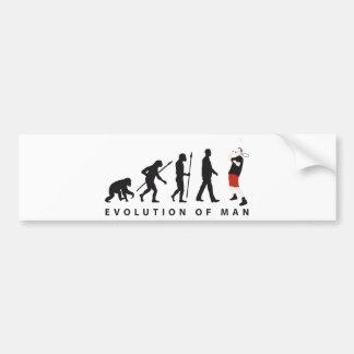 evolution bath min tone bumper sticker