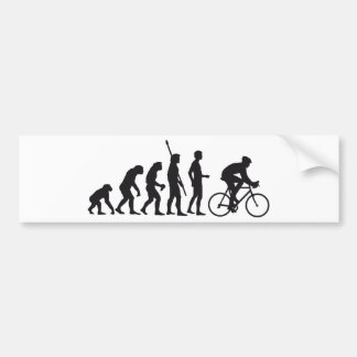 evolution bicycle bumper sticker