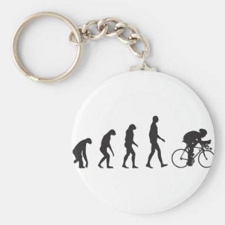 Evolution Bike Basic Round Button Keychain