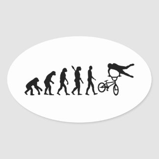 Evolution BMX Oval Sticker