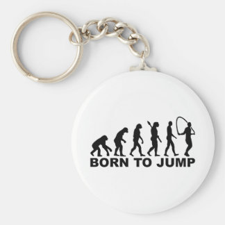 Evolution born to Jump rope Keychain