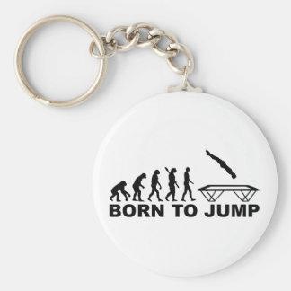 Evolution born to jump trampoline keychain