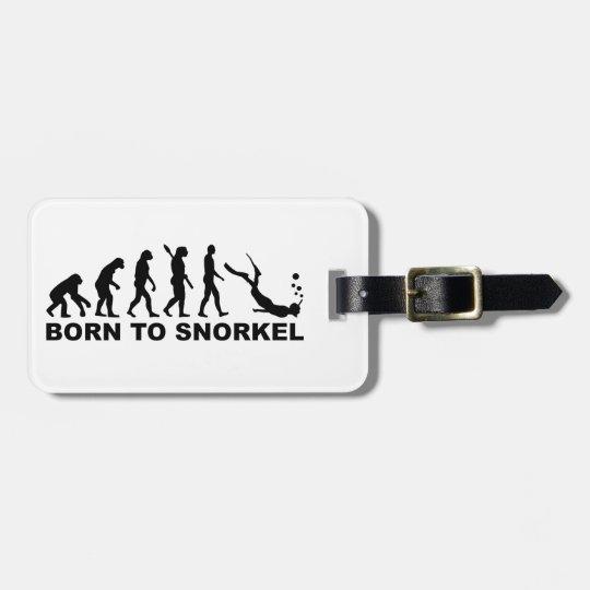 Evolution born to snorkel luggage tag