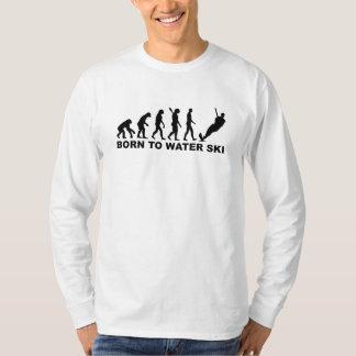 Evolution Born to water ski T-shirt