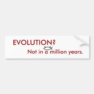 EVOLUTION? BUMPER STICKER