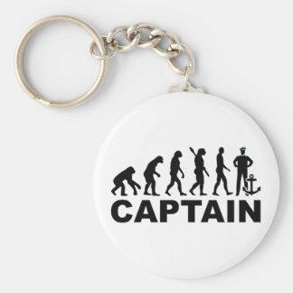 Evolution captain basic round button keychain
