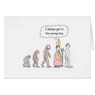 Evolution Cartoon Birthday Card