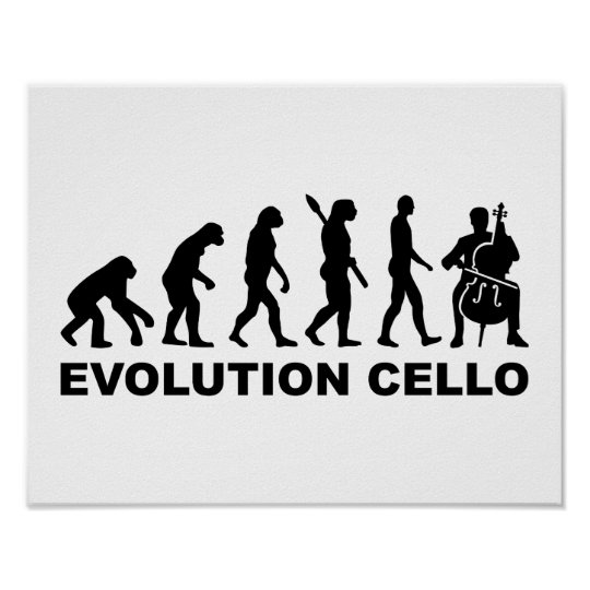 Evolution Cello Poster