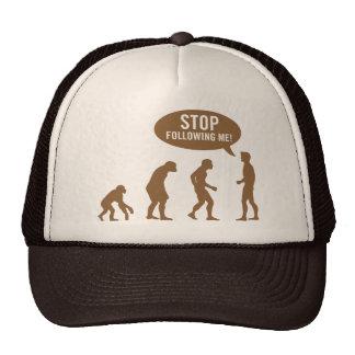 évolution - cessez de me suivre ! casquettes
