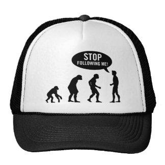 évolution - cessez de me suivre ! casquettes de camionneur