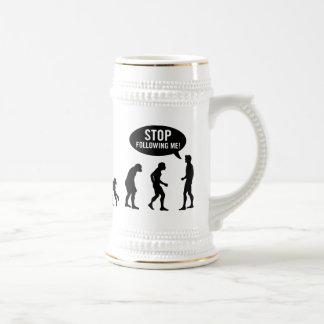 évolution - cessez de me suivre ! tasses à café